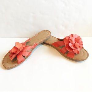 Sonoma Coral Flower Flip Flop Sandals